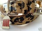 NEW COACH OCELOT ANIMAL 66346  SMALL LARGE LEATHER DOG COLLAR S  L  MADISON
