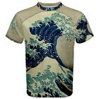 Hokusai Great Wave Off Kanagawa Sublimated Sublimation T-Shirt S,M,L,XL,2XL