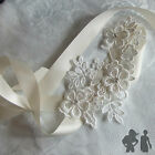 LACE HEADBAND, CRYSTAL RHINESTONES, IVORY  RIBBON,BRIDE, BRIDESMAID,