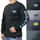 Dickies T shirt Mens Long Sleeve Graphic Logo Tee T- Shirts Colors Cotton 7643