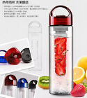 Portable Titran Fruit Infuser Light Sport Water Bottle Lemon Lemonade Juice Tea