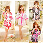 Womens Sexy Sleepwear Lingerie Robe Japanese Kimono Costume Nightgown Uniform