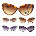 Giselle Womens Thick Plastic Cat Eye Plastic Cross Frame Fashion Sunglasses New