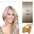 "26""DIY kit Indian Remy Human Hair I tips/micro beads  Extensions  AAA GRADE#613a"