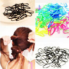 300pcs Rubber Hairband Rope Ponytail Holder Elastic Hair Band Ties Braids Plaits