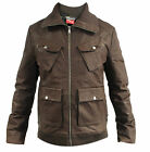 Puma MINI Leather Brown Jacket Mens (561497 01) R8