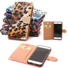 For 4.7'' iPhone 6S Luxury Leopard Pattern PU Leather Wallet Flip Cover Case Hot