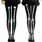 SKELETON PRINT TIGHTS - 80D Women Halloween Party Opaque Skull Bone Pantyhose