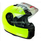 ULTRA FLUO YELLOW V121 RACER MOTORCYCLE HELMET