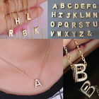 Gold plate Initial Stylist Women Gift Letter name chain Pendant Fashion Necklace