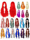 Lady New Solid Color Long Curly Fancy Dress Cosplay Party Costume Hair Extension