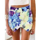 Women Culottes Shorts Floral Skort Pleated Pants Hot Pants Skirt 3 Sizes K0E1