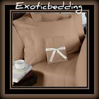 Taupe Solid 4-Piece Bed Sheet Set 1200 Thread Count Egyptian Cotton