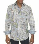 Robert Graham Brig Embroidered Shirt Paisley Floral Print M NWT $248