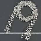 10pc White Gold Silvery Ball Link Chain 1.5mm Necklace 17.5-24''