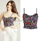 Tunic Sexy Crop Top Vest Midriff Shirt Blouse Tank Tops Cami Colorful New K0E1