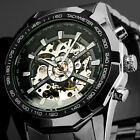 Armbanduhr Herren Uhr New Winner Weiß Skeleton analoge mechanische coole  NoEBEC