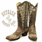 Corral Women's Brown Crater Bone Embroidery Boot A1094