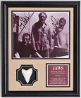 JAWS cast Roy Scheider etc. signed framed shark photo w/ Great White Shark tooth