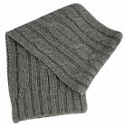 Timberland Short Plain Grey Womens Mens Unisex Scarf Winter (T0223 052) UW