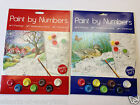 Paint By Numbers Set Water colour Paints 2 Designs per Pack A4 Size Adult Child
