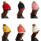 Women Sweet Braided Warm Rageared Baggy Winter Beanie Knit Crochet Ski Hat Cap