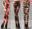 New Fashion Womens Sexy Camo Camouflage Stretch Trousers Pants Leggings