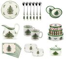 Spode Christmas Tree Crockery - Tableware Cutlery Serving Dishes Plates Bowls