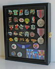 Small Wall Shadow Box Cabinet for Pin and Medal Display with Glass Door, PC02