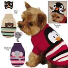 Zack & Zoey Piggyback Pals Dog Puppy Sweater and Hat Set Penguin Owl Elephant