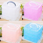 New Handle Adjustable Plastic Storage Box Case Organizer 3 Layer 18 compa No06SF