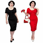 Glamour Bunny New Pan Pinup Vintage Hourglass 1950S Fitted Pencil Wiggle Dress