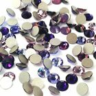 144 Swarovski 2058/2088 crystal flat backs rhinestones PURPLE Colors Mix