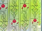 Embossed Textured Stained Glass Decorative Frosted Window Privacy Vinyl Film