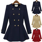 New Fashion Women's Coat Parka Outwear Slim Woolen Double-Breasted Trench Hot