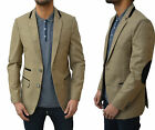 Mens Swade Platinum Blazer Designer Tailored Fit Smart Casual Suit Coat Jacket