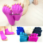 Fall Winter Colorful Warm Foot Alignment Massage Socks Stretch Toes Pain Relief