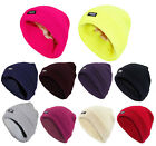Ladies Fleece Lined Bennie Hat Woolly Thin Insulated Winter Women Knitted Cap