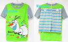 DISNEY FROZEN OLAF SNOWMAN BOYS GIRLS PAJAMAS PJs SHIRT SHORTS 4 5 6 7 8 10 new