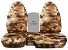 CC 91-97 FORD RANGER TREE CAMO CAR SEAT COVERS 60-40 highback seat,CHOOSE COLOR