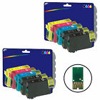 2 Sets + 2 Black non-genuine Printer Ink Cartridges for Epson E1811-4 Range