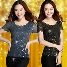 New Gorgeous Double Layers Gilding Gold Gauze Women Lace Shirts Tops Blouses