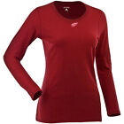 Women's Detroit Red Wings Relax LS 100% Cotton Washed Jersey Scoop Neck Tee