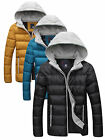 Men's Winter Warm Candy Color Slim Fit Thick Coat Hooded Puffer Jaket Puffer New