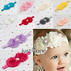 Hot For Toddler Baby Kids Flowers Cloth Imitation Pearl Hairband Hair Ribbon