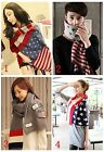 Lady Long Cashmere Wool thickening soft warm flag Scarf  Vogue Wrap Shawl flag