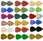 25 Czech Glass Leaf Beads 10mm  Opaque & Transparent Colors Choice Of Color