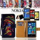 Folio Flip Wallet Card Stand Magnetic Leather Case Cover For Nokia Asha Phones