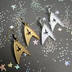 Star Trek Enterprise Starfleet Command Insignia Logo Earrings in Gold OR Silver on eBay