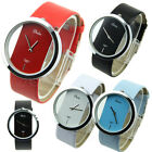 Women's Girls Colorful Leather Transparent Dial U Pick Succinct Sport Watch New